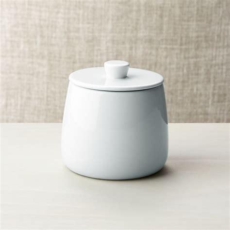 basic white sugar bowl crate  barrel