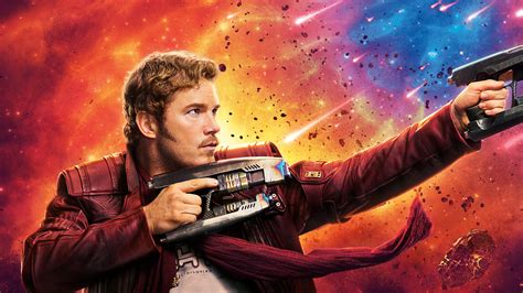 wallpaper chris pratt peter quill star lord guardians