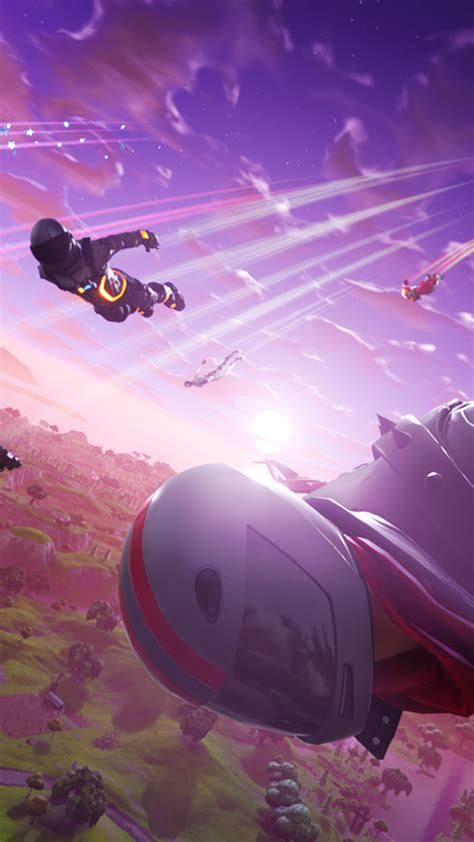 Perfect screen background display for desktop, iphone, pc, laptop, computer. Fortnite Season Competition Jump 4K Ultra HD Mobile Wallpaper