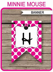 Youtube Banner Art Template Minnie Mouse Party Banner Template Birthday Banner