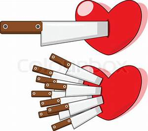 The knife push in heart | Vector | Colourbox