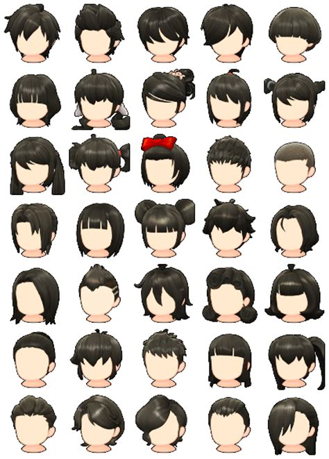 pc computer maplestory  hair styles  spriters