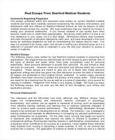 Stanford Mba Resume by Personal Statement Harvard Sle
