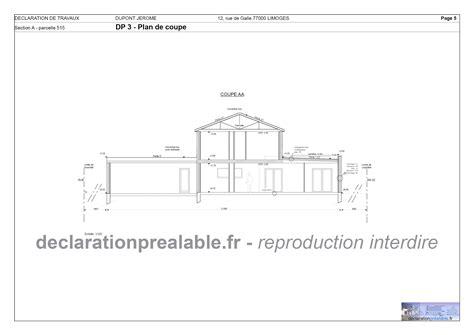 declaration prealable pour abri de jardin declaration prealable de travaux abri jardin plan de coupe dp3