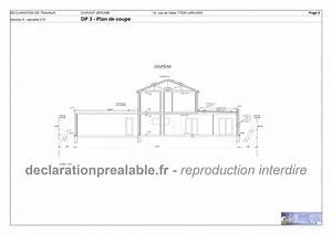 Exemple Déclaration Préalable Abri De Jardin : declaration prealable de travaux abri jardin plan de coupe dp3 ~ Louise-bijoux.com Idées de Décoration