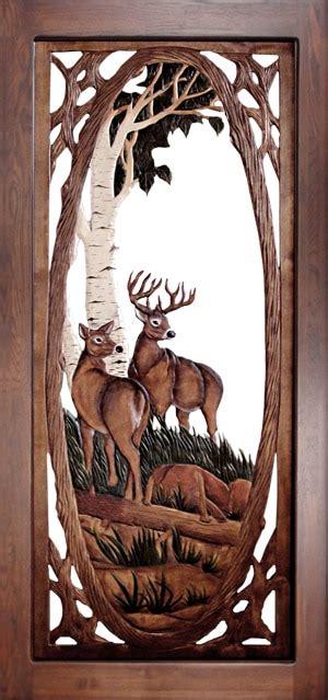 wood carved screen door