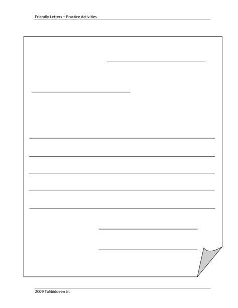 blank letter template  kids blank template friendly