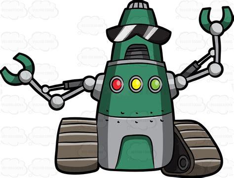 A Wrench Robot Cartoon Clipart