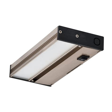 dimmable under cabinet lighting nicor nuc 8 in led nickel dimmable under cabinet light