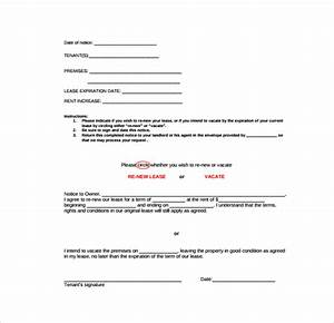 sample rental renewal form 10 download free documents With tenancy agreement renewal template