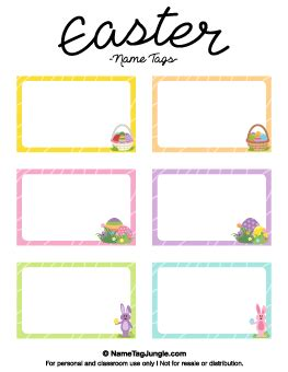 Easter Name Tags Template by Free Name Tag Templates Page 4