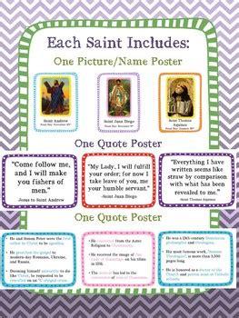 catholic saint   week bulletin board set tpt