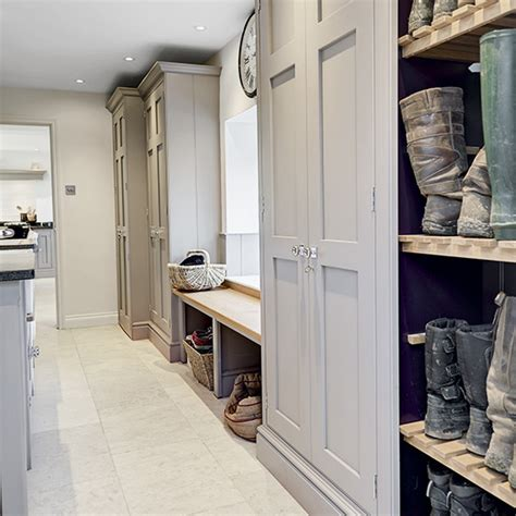 Monochrome House With Secrete Utility Room by 8 Country Style Boot Room Designs