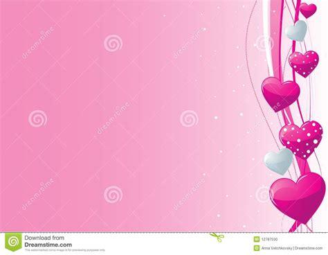 pink  grey valentine heart background stock photo