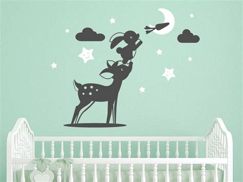 Babyzimmer Gestalten Wandtattoos by Reh Und Hase Putzige Dekoration Baby Kinder Zimmer
