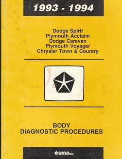 service repair manual free download 1993 plymouth acclaim navigation system 1993 1994 dodge spirit plymouth acclaim dodge caravan plymouth voyager chrysler town