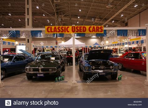 Classic Used Car Market On Display At A Car Local Indoor