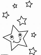 Coloring Pages Star Printable Mycoloring sketch template