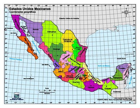 mapa para imprimir de m 233 xico mapa en color de estados