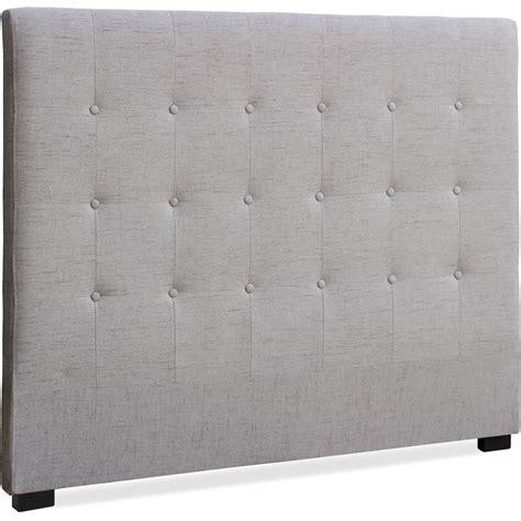 decoration chambre taupe tête de lit capitonnée tissu beige 140 luxa lestendances fr