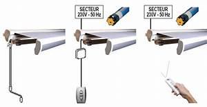 Store Banne Manuel : moteur de store banne filaire ou radio avec t l commande ~ Premium-room.com Idées de Décoration