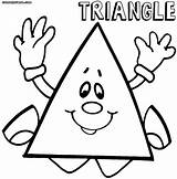 Triangle Coloring Triangles Printable Preschoolers Template Preschool Animage Toddlers Popular Printables Suncatchers Templates sketch template