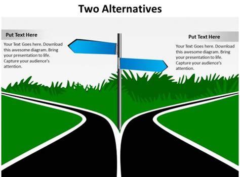 alternatives road signs diverging
