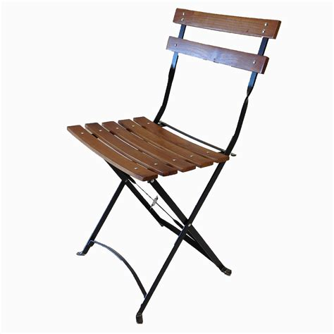 bistro metal wood folding chair