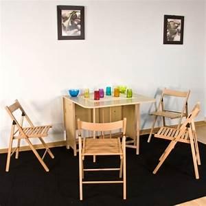 Table Avec Chaise Encastrable : table console avec chaise ~ Teatrodelosmanantiales.com Idées de Décoration