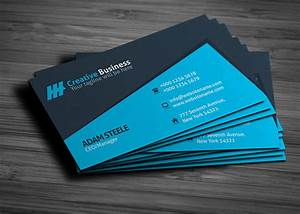Blue creative business card template graphic pick for Blue business card template