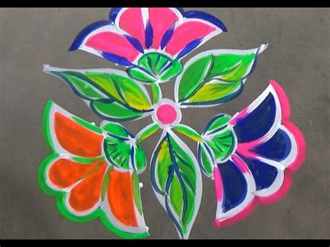 flower rangoli designs   dots simple kolam