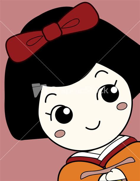 cute japanese girl cartoon character
