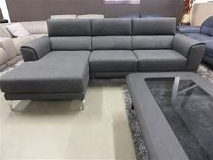 natuzzi group slate grey fabric chaise sofa furnimax With natuzzi fabric sectional sofa