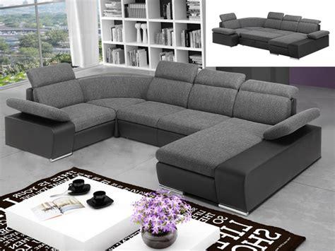 canapé angle panoramique canapé d 39 angle convertible en tissu et simili cyrano