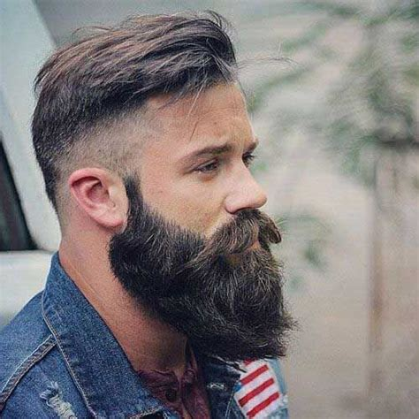glatze und vollbart einfach attraktiv coole american style frisur