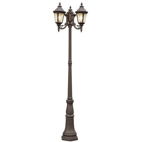 Light Post by Shop Bel Air Lighting 3 Light Post Top Lantern At Lowes