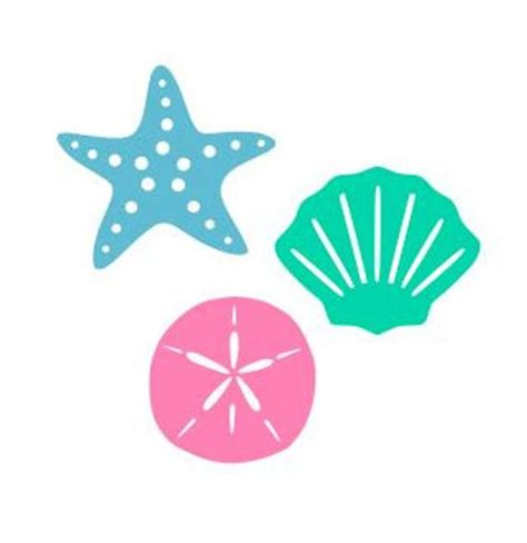 Use by itself or copy and mirror it for a toast. Seashell, Starfish and Sand Dollar SVG, Studio3, DXF, AI ...