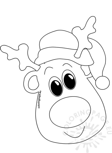 christmas coloring pages head  santa hat coloring page
