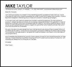 sample cover letter for a marketing job livecareer With how to write a cover letter for a marketing job