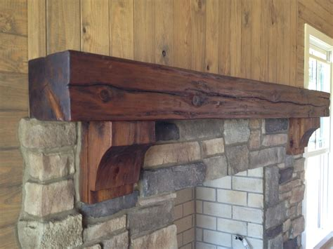 Wooden Corbels For Fireplaces by Rustic Timber Mantel With Corbels By Burruscompany