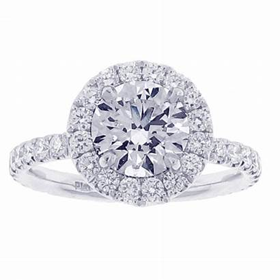 Engagement Pampillonia Ring Halo Diamond Pave Micro