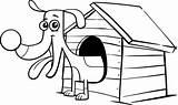 Doghouse Psia Buda Teckel Hondenhok Rysunek Książka Kolorowanie 30seconds sketch template