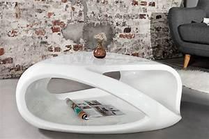 Riess Ambiente De : design couchtisch twister weiss hochglanz beistelltisch ~ Pilothousefishingboats.com Haus und Dekorationen
