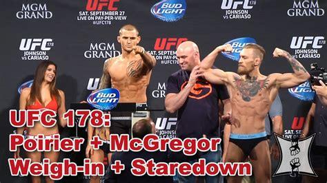 ufc  conor mcgregor  dustin poirier weigh