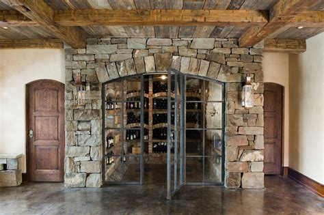 Beige Sectional Living Room Ideas by Marvelous Wine Cellar Doors Mode Other Metro Rustic Wine