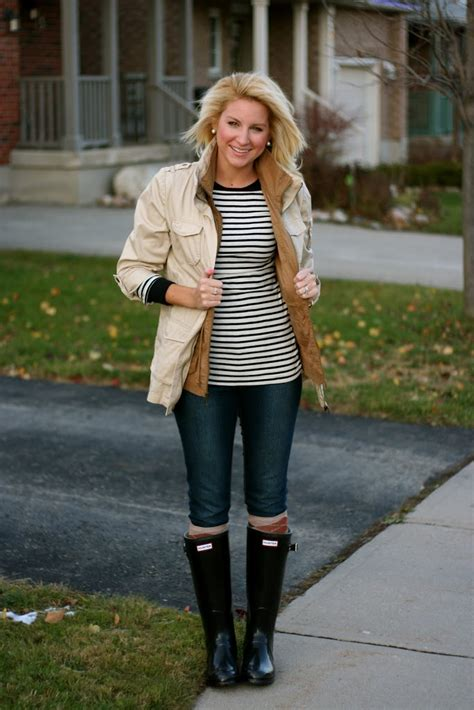 What I Wore Stripes and Hunters - SHOP DANDY | A florida based style and beauty blog by Danielle