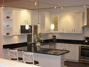 (White) Ivory Maple Cabinets with Black Galaxy Granite. - Yelp