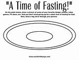 Fasting Coloring sketch template