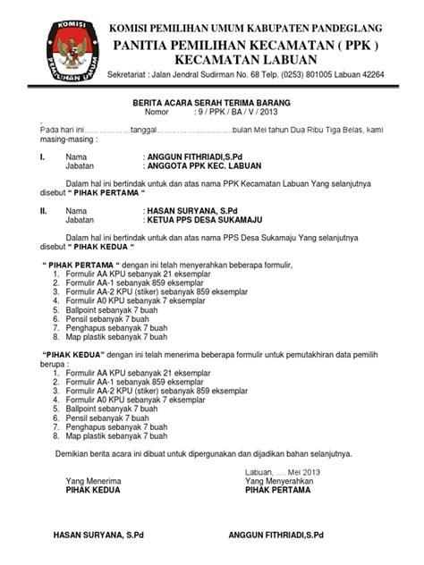 Contoh Formulir A5 Kpu - Contoh Alkali