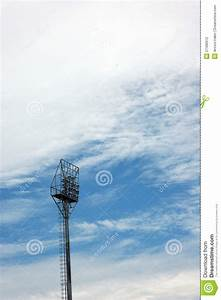 Stadium light poles stock photography image